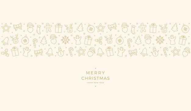 Weihnachtselement ikonen gold banner hintergrund