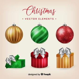 Weihnachtselement-sammlung