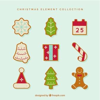 Weihnachtselemente mit modernem stil