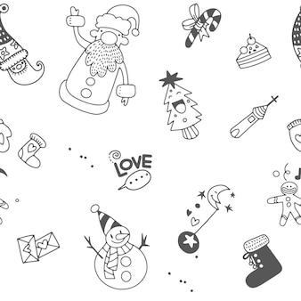 Weihnachtselementikonen-fahnenhintergrund