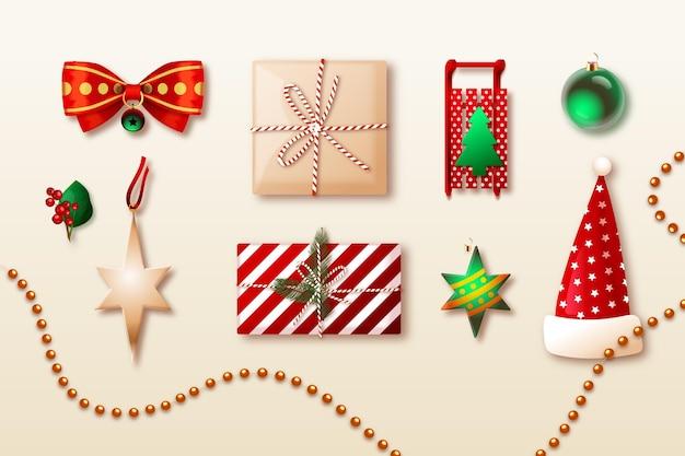 Weihnachtselementsammlung