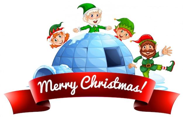 Weihnachtsetikett