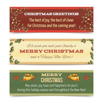 Weihnachtsfahne horizontal