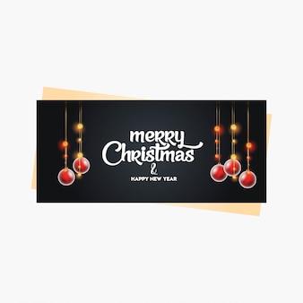 Weihnachtsfahne mit eleganter dekoration