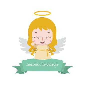 Weihnachtsfahne mit kleinem engel