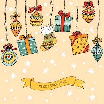 Weihnachtsfahne mit platz für ihren text