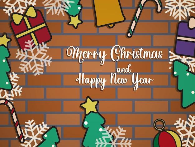Weihnachtsfahnen-hintergrund-flaches design