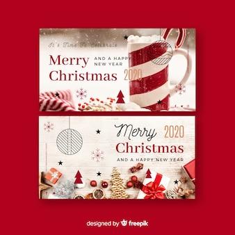 Weihnachtsfahnen mit foto