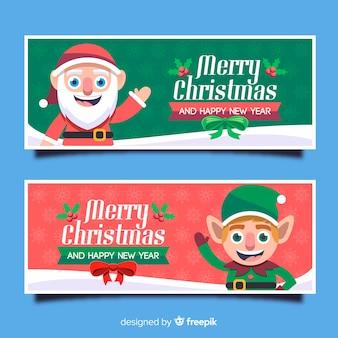 Weihnachtsfahnen mit kobold