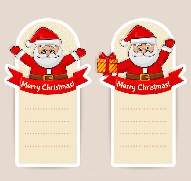 Weihnachtsfahnen mit weihnachtsmann copyspace