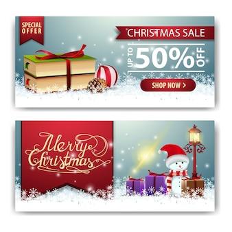Weihnachtsfahnenschablone mit weihnachtsbuch und schneemann