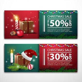 Weihnachtsfahnenschablonen mit geschenken santa claus-hut