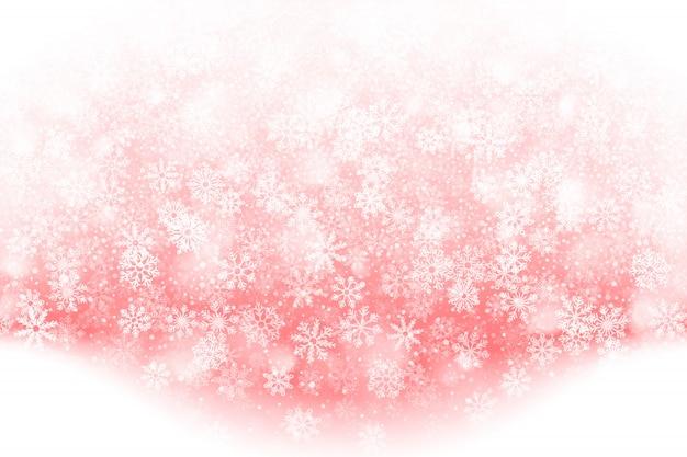 Weihnachtsfallender schnee-effekt-hintergrund