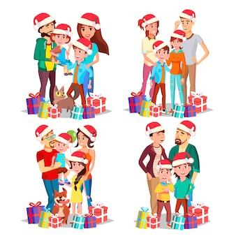 Weihnachtsfamilien-portrait