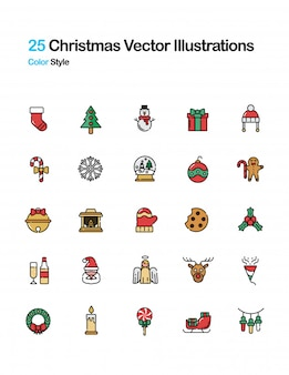 Weihnachtsfarbe-illustration