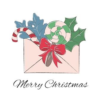 Weihnachtsfarbe-vektor-illustrations-set winter-buchstabe