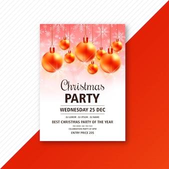 Weihnachtsfeier einladung flyer vorlage