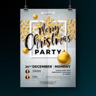 Weihnachtsfeier flyer illustration
