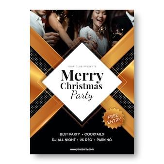 Weihnachtsfeier flyer vorlage