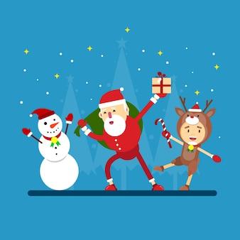 Weihnachtsfeier illustration