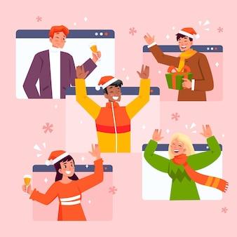 Weihnachtsfeier im online wegen coronavirus