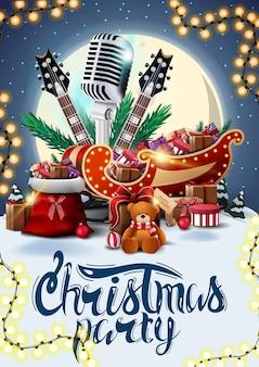 Weihnachtsfeier, plakat mit winterlandschaft