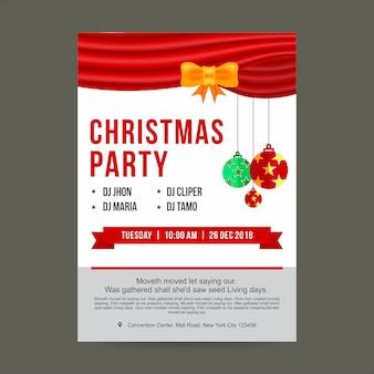 Weihnachtsfeier-plakat oder flyer-design-vorlage