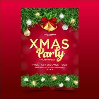 Weihnachtsfeier plakat