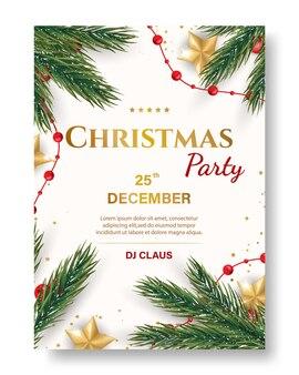 Weihnachtsfeier poster vorlage.