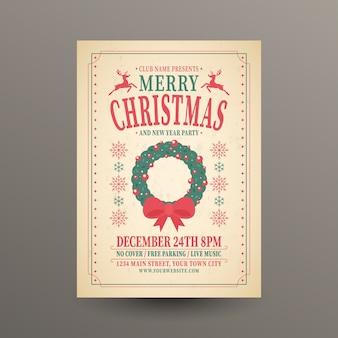 Weihnachtsfeier vorlage mit schriftzug