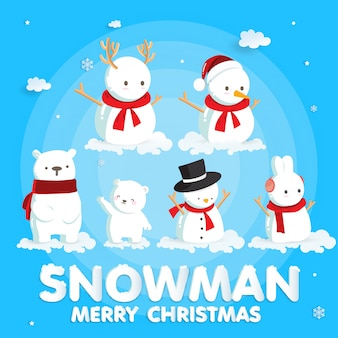Weihnachtsfeiern mit niedlichen weihnachtsmann und rentier für weihnachtskarte im papierschnitt stil