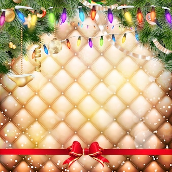 Weihnachtsfeierplakat.