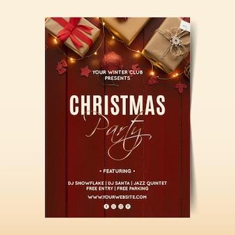 Weihnachtsfeierplakatschablone mit foto