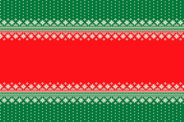 Weihnachtsfeiertags-nahtloses pixelmuster mit nahtloser schneeflocken-verzierung