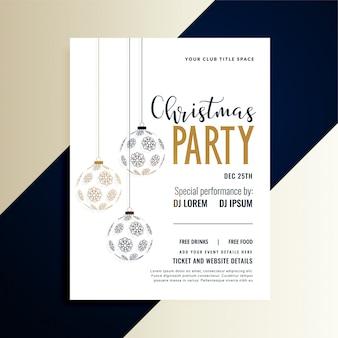 Weihnachtsfeiertags-partyeinladungsflieger-designschablone