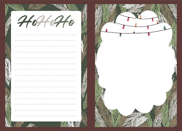 Weihnachtsfeiertagsfeier sammlung set aufkleber, tagebuch, notizen,