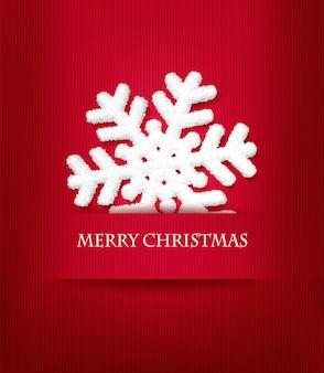 Weihnachtsfeiertagshintergrund mit schneeflocke.