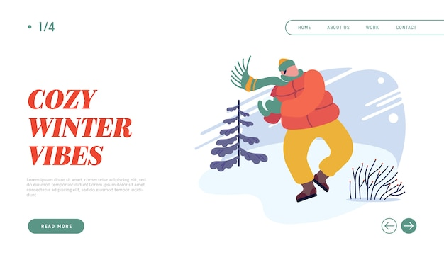 Weihnachtsferien aktivität website landing page.