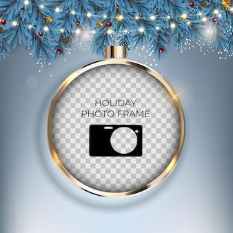 Weihnachtsferien fotorahmen vorlage.