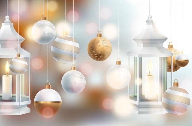 Weihnachtsferien mit bällen