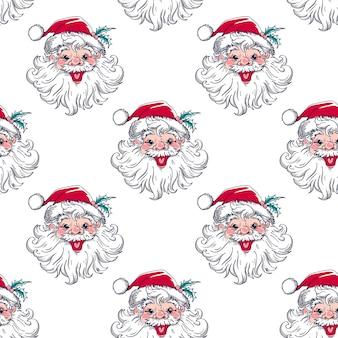 Weihnachtsferien nahtloses muster für geschenkpapier