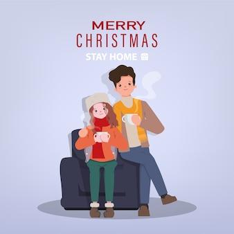 Weihnachtsferien und zu hause mit paar bleiben.