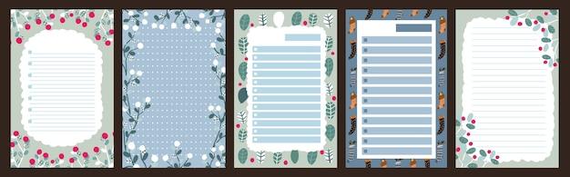 Weihnachtsferienfeierjournal notizblock niedlicher brief skandinavischen stil