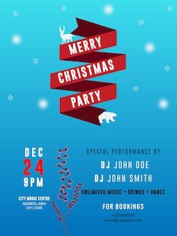 Weihnachtsfest banner flyer shop