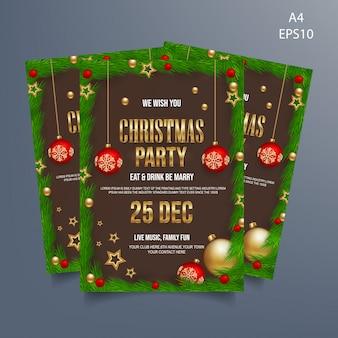 Weihnachtsfest flyer vorlage design