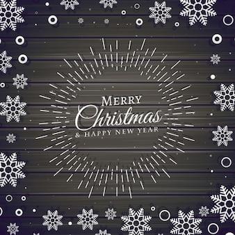 Weihnachtsfest hintergrund mit schneeflocken-frame