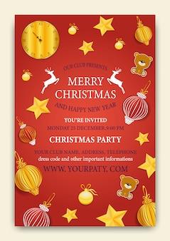 Weihnachtsfest karte flyer einladung