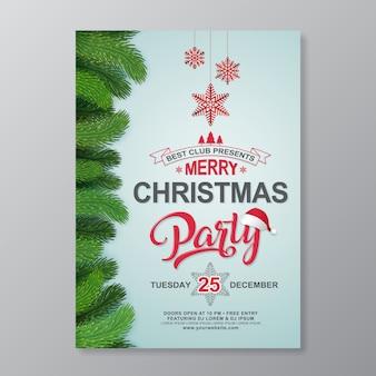 Weihnachtsfest-plakat-design-vorlage
