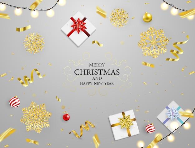 Weihnachtsfest-plakat und guten rutsch ins neue jahr-hintergrund.