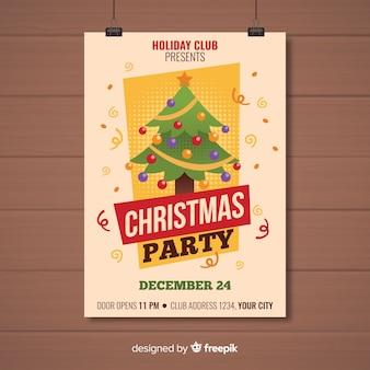 Weihnachtsfest-plakat-vorlage